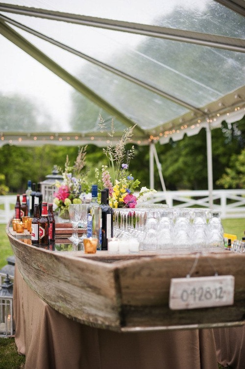 wedding boat bar
