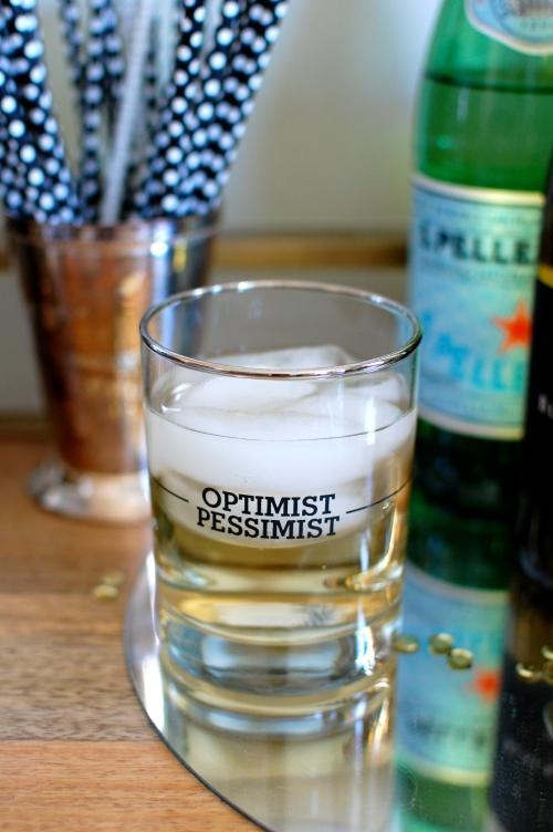 Glass Half Full Old Fashioned Glasses