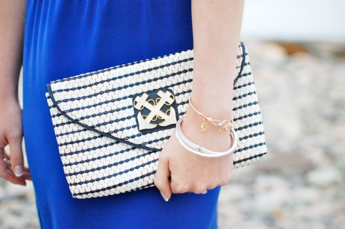 Lilly Pulitzer Nautical Clutch
